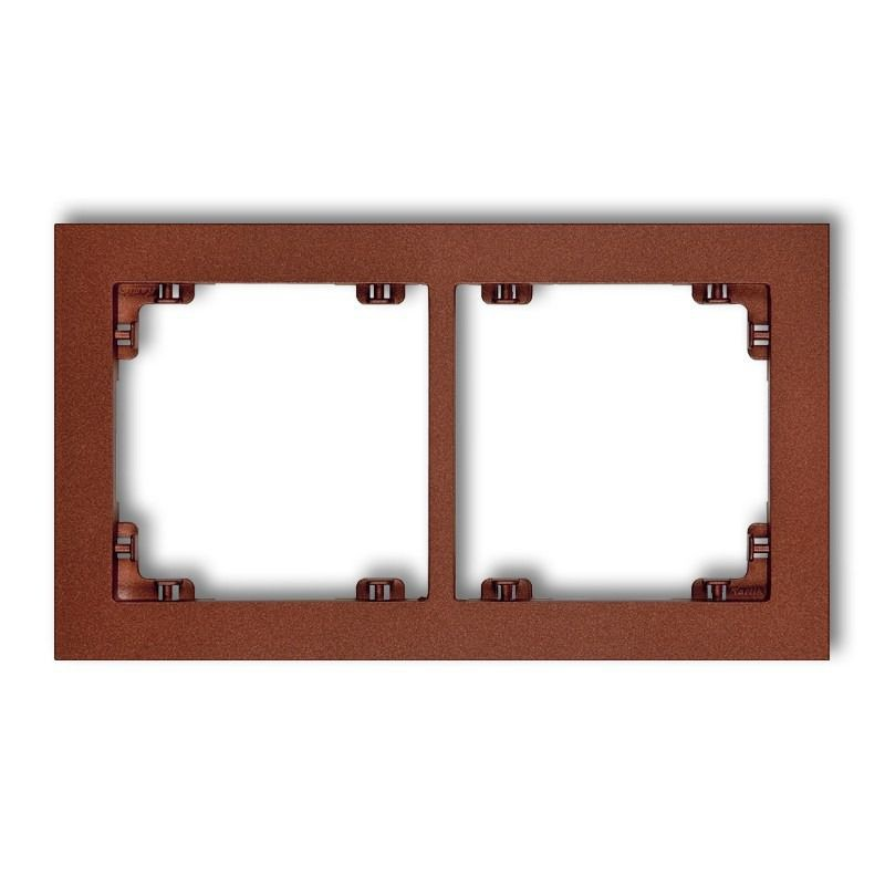 Ramki-podwojne - podwójna ramka brązowa metaliczna 9dr-2 deco karlik firmy Karlik