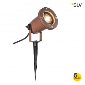 Lampy-ogrodowe-stojace - lampa wbijana do ogrodu reflektor rdzawy gu10 11w nautilus spike 15 1001964 spotline