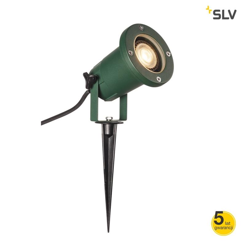Lampy-ogrodowe-stojace - zielony reflektor ogrodowy wbijany nautilus spike 15 1001965 spotline firmy SPOTLINE