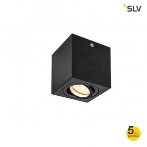 Oprawy-sufitowe - czarna kwadratowa lampa sufitowa gu10 10w triledo 1002013 spotline