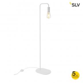 Lampy-stojace - biała lampa podłogowa o mocy 24w e27 fitu fl 1002145 spotline