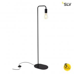 Lampy-stojace - czarna lampa podłogowa 24w e27 fitu fl 1002146 spotline