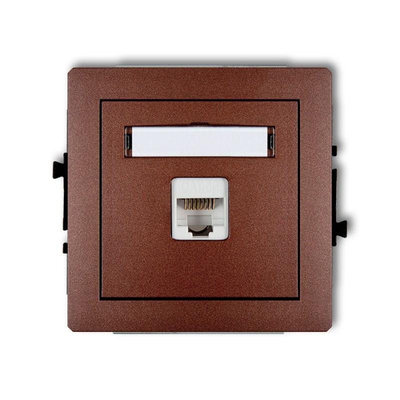 Gniazda-komputerowe - brązowe gniazdo komputerowe rj45 kat. 5e 9dgk-1 deco karlik firmy Karlik