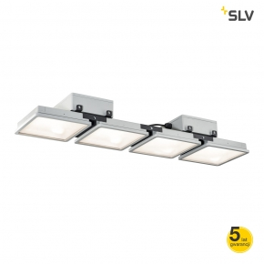 Lampy-sufitowe - lampa wisząca zewnętrzna srebrnoszara 190w 4000k ip65 almino pd quad 1002194 spotline