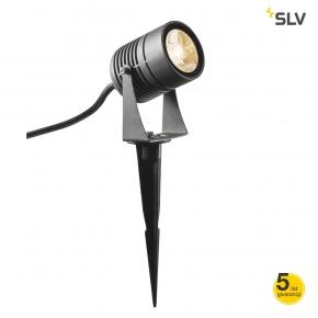 Lampy-ogrodowe-stojace - reflektor led ogrodowy wbijany antracyt 3000k 1002201 spike spotline