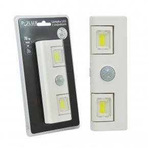 Akcesoria-do-tasm-led - podszafkowa lampa led z czujnikiem ruchu i zmierzchu podłużna 6000k 311108 polux