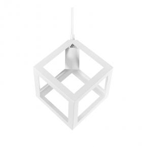Lampy-sufitowe - lampa wisząca sufitowa w kolorze białym sześcian e27 20w il mio sweden b polux
