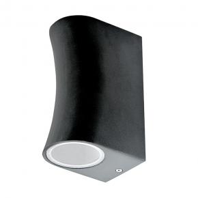 Kinkiety-ogrodowe - kinkiet ogrodowy boston czarny sgl37rwb-2 2xgu10 góra/dół aluminiowy polux