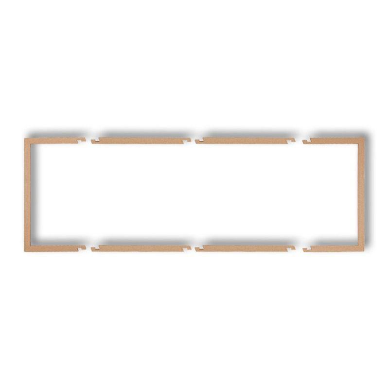 Ramki-potrojne - złota metaliczna potrójna ramka wypełniająca 8drw-3 deco karlik firmy Karlik