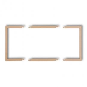 Osprzet-produkty-uzupelniajace - wypełniająca ramka podwójna złoty metalik 8drw-2 deco karlik