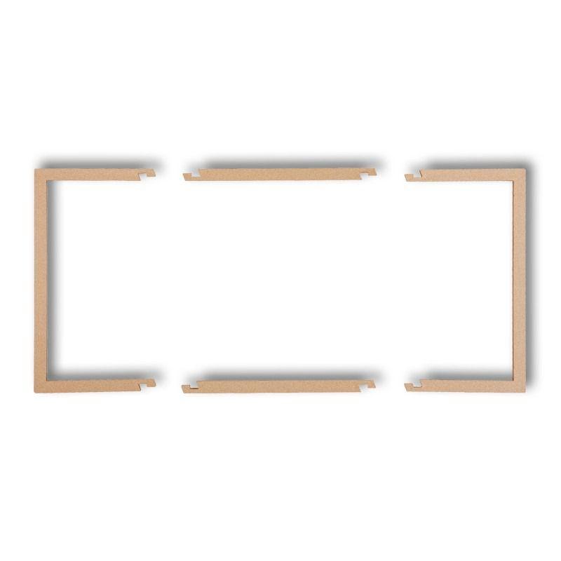 Osprzet-produkty-uzupelniajace - wypełniająca ramka podwójna złoty metalik 8drw-2 deco karlik firmy Karlik