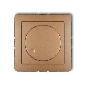 Regulatory-oswietlenia - złoty metaliczny ściemniacz przyciskowo-obrotowy 8dro-1 deco karlik