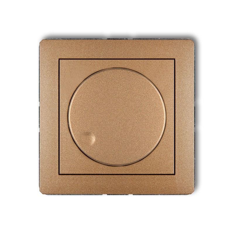 Regulatory-oswietlenia - złoty metaliczny ściemniacz przyciskowo-obrotowy 8dro-1 deco karlik firmy Karlik