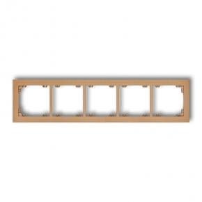 Ramki-pieciokrotne - ramka złota metaliczna pięciokrotna 8dr-5 deco karlik