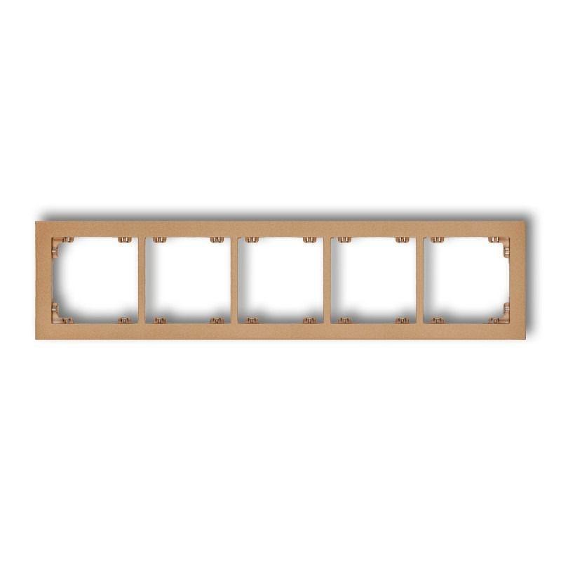Ramki-pieciokrotne - ramka złota metaliczna pięciokrotna 8dr-5 deco karlik firmy Karlik