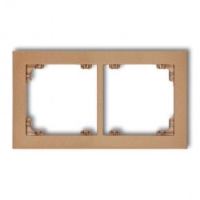 Ramki-podwojne - podwójna złota metaliczna ramka 8dr-2 deco karlik