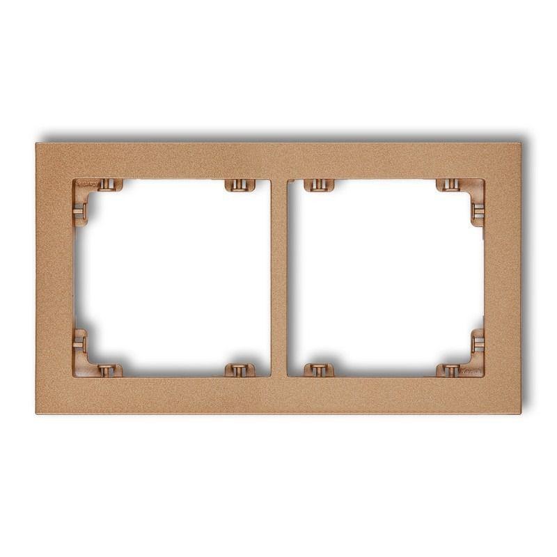 Ramki-podwojne - podwójna złota metaliczna ramka 8dr-2 deco karlik firmy Karlik