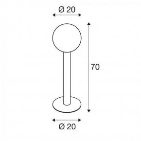 Lampy-ogrodowe-stojace - lampa stojąca zewnętrzna antracytowa 23w e27 70cm gloo pure 70 1002001 spotline