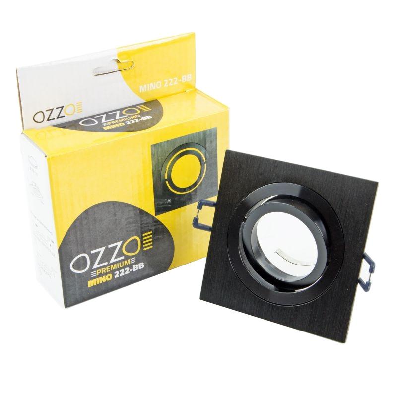 Oprawy-sufitowe-ruchome - czarna szczotkowana ruchoma oprawa oświetleniowa mino 222-bb ozzo firmy INQ