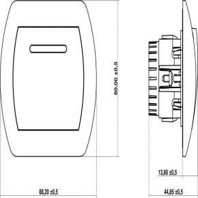 Regulatory-oswietlenia - srebrny metaliczny ściemniacz dotykowy i na pilota 7ro-1 deco karlik