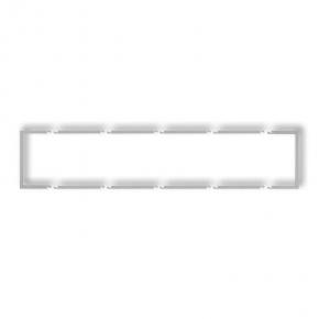 Osprzet-produkty-uzupelniajace - pięciokrotna ramka wypełniająca srebrny metalik 7drw-5 deco karlik