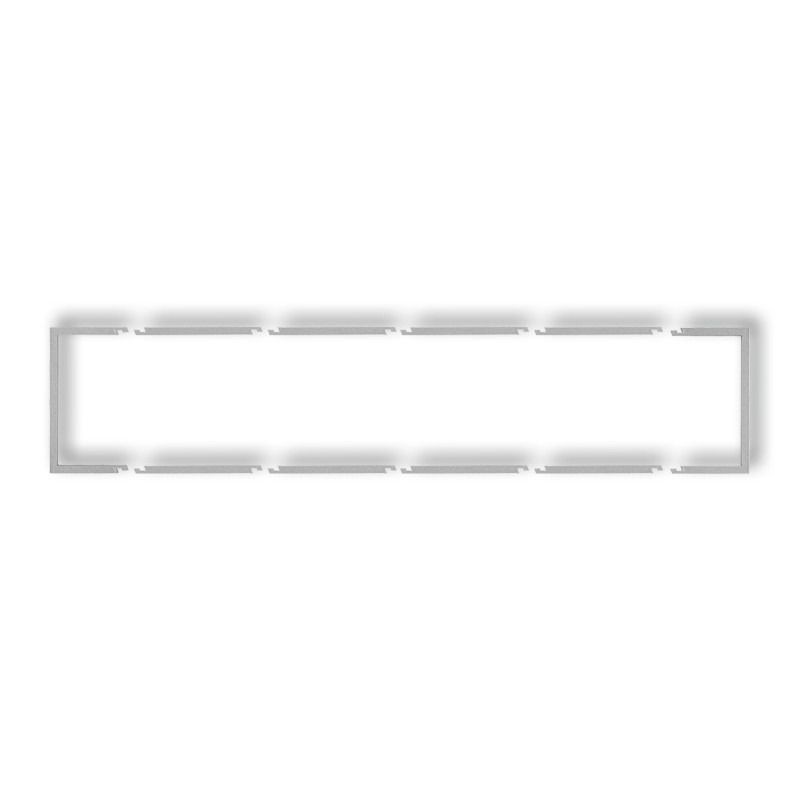 Osprzet-produkty-uzupelniajace - pięciokrotna ramka wypełniająca srebrny metalik 7drw-5 deco karlik firmy Karlik