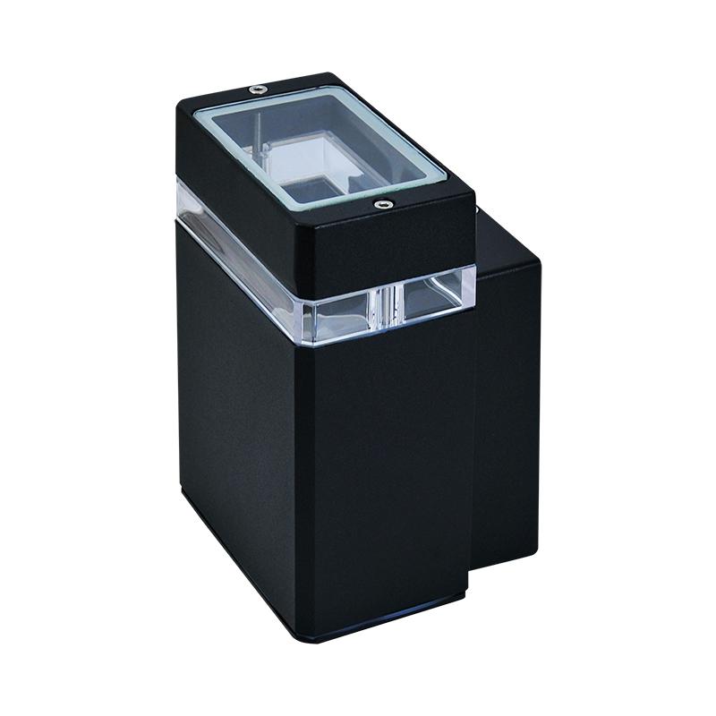 Kinkiety-ogrodowe - kinkiet zewnętrzny pojedynczy czarny gu10 ip44 gilbert y217 polux firmy POLUX