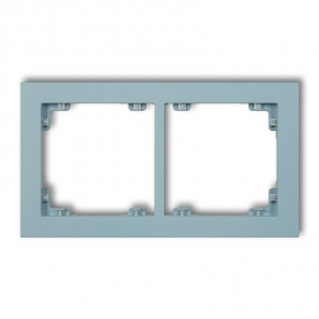 Ramki-podwojne - lazurowa podwójna ramka 48dr-2 deco pastel matt karlik