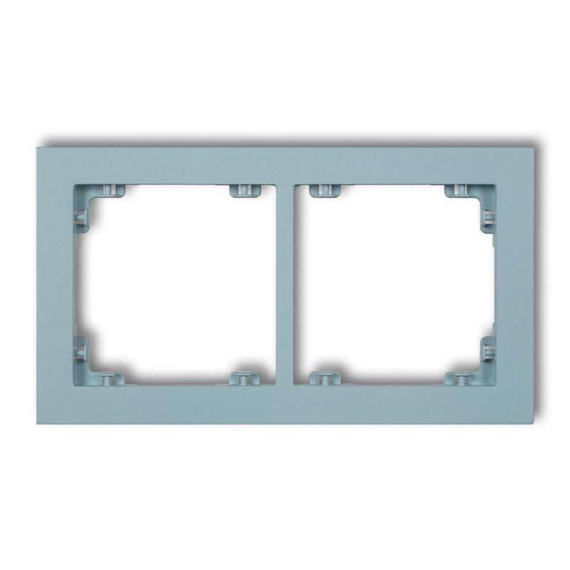 Ramki-podwojne - lazurowa podwójna ramka 48dr-2 deco pastel matt karlik firmy Karlik