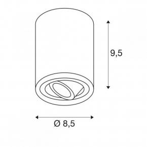 Oprawy-sufitowe - biała oprawa sufitowa okrągła gu10 10w triledo 1002011 spotline