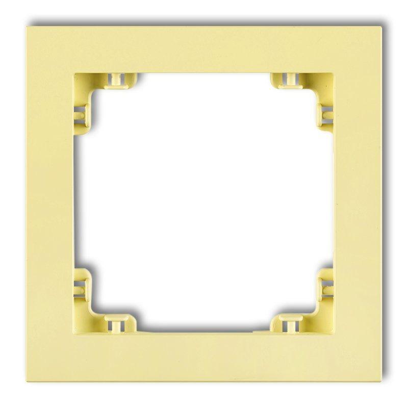 Ramki-pojedyncze - pojedyncza ramka kanarkowa 43dr-1 deco pastel matt karlik firmy Karlik