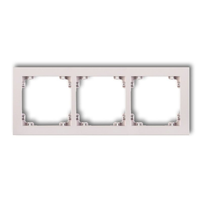 Ramki-potrojne - potrójna ramka pudrowy róż 40dr-3 deco pastel matt karlik firmy Karlik