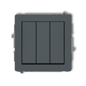 Włącznik potrójny grafitowy mat 28DWP-7 DECO KARLIK