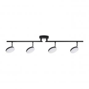 Oswietlenie-sufitowe - lampa sufitowa led czarna capri 10224c 4*5w polux