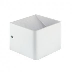 Kinkiety - kinkiet dekoracyjny led w kolorze białym 5w 4000k raca led 00023 ideus