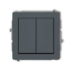 Podwójny włącznik grafitowy mat 28DWP-2 DECO KARLIK