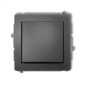Jednobiegunowy włącznik grafitowy mat 28DWP-1 DECO KARLIK