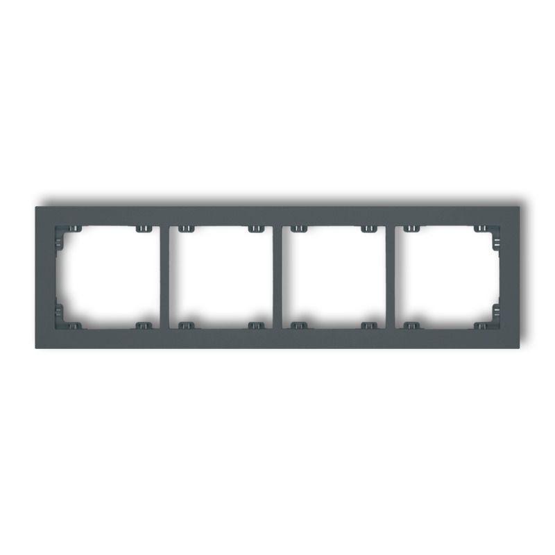 Ramki-poczworne - poczwórna ramka grafitowy mat 28dr-4 deco karlik firmy Karlik