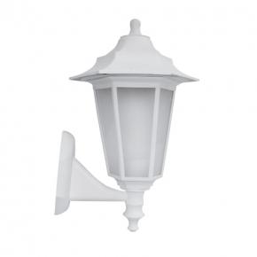 Biała lampa ogrodowa w...