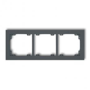 Potrójna ramka grafitowy mat 28DR-3 DECO KARLIK