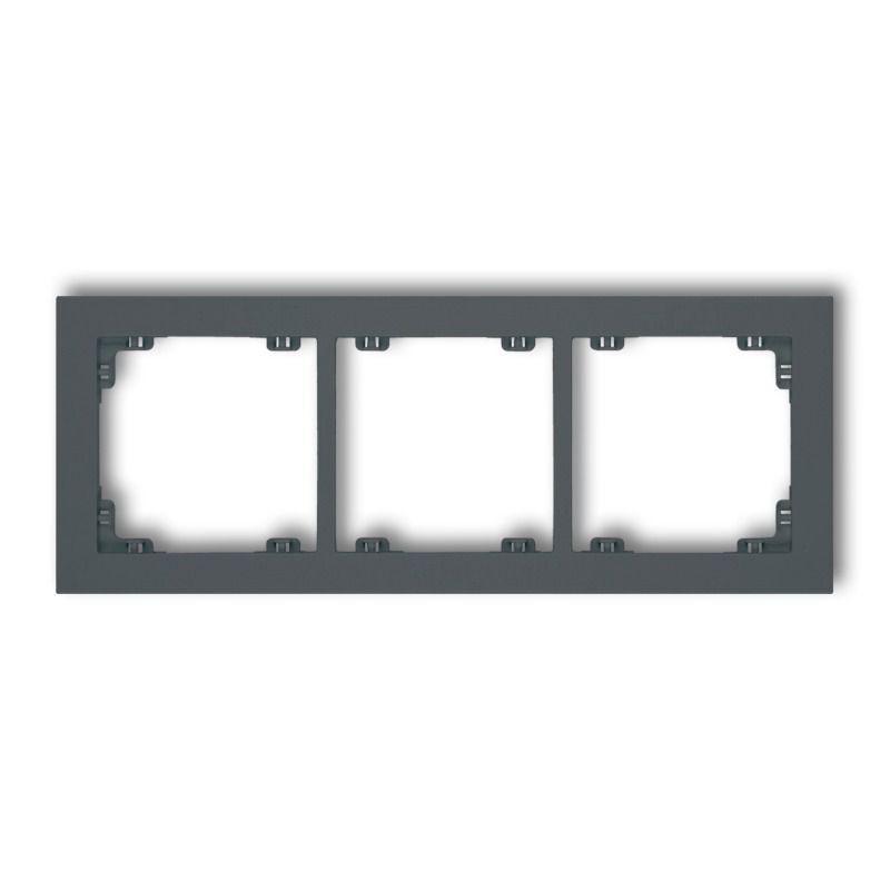 Ramki-potrojne - potrójna ramka grafitowy mat 28dr-3 deco karlik firmy Karlik