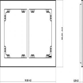 Ramki-podwojne - grafitowa matowa ramka podwójna 28dr-2 deco karlik
