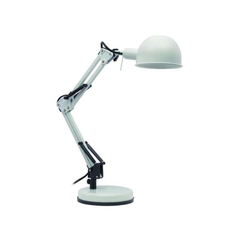 Lampki-biurkowe - lampka biurkowa led w kolorze białym e14 40w pixa kt-40-w kanlux firmy KANLUX