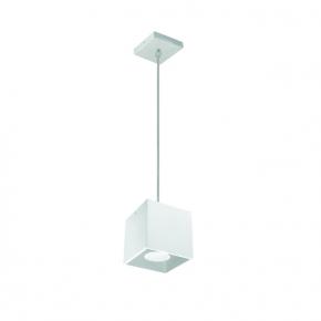 Lampy-sufitowe - biała lampa wisząca sufitowa w kształcie sześcianu 40w algo gu10 pl-w 27038 kanlux