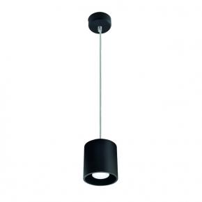 Lampy-sufitowe - lampa wisząca sufitowa czarna gu10 40w algo gu10 po-b 27039 kanlux