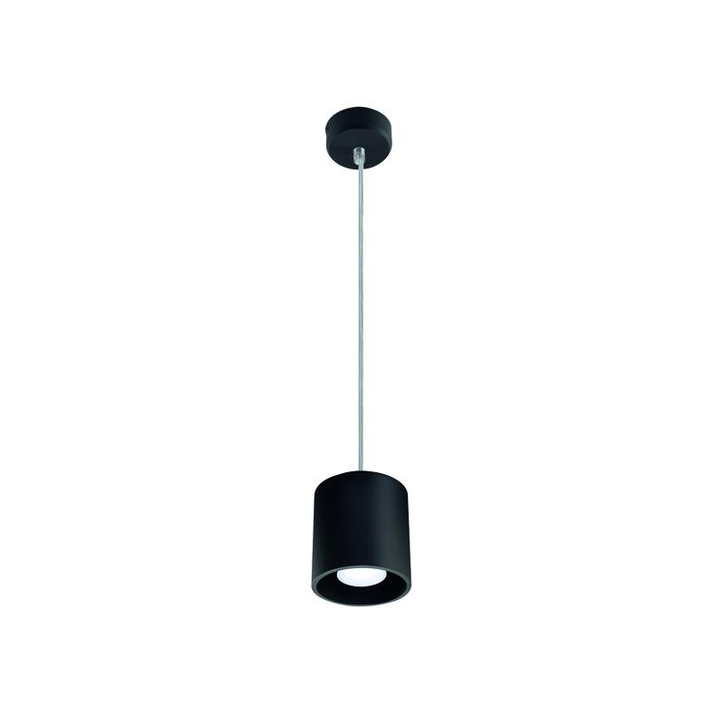 czarne lampy wiszące do łazienki