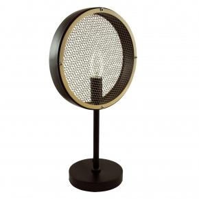 Lampki-nocne - lampka stołowa czarno-brązowa e14 12w led il mio arete 312914 polux