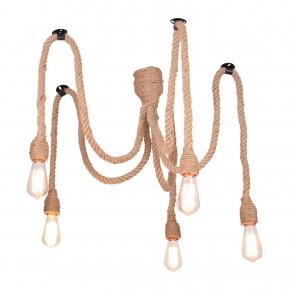Lampy-sufitowe - wisząca lampa sufitowa beżowa e27 il mio rope pajączek 312921 polux