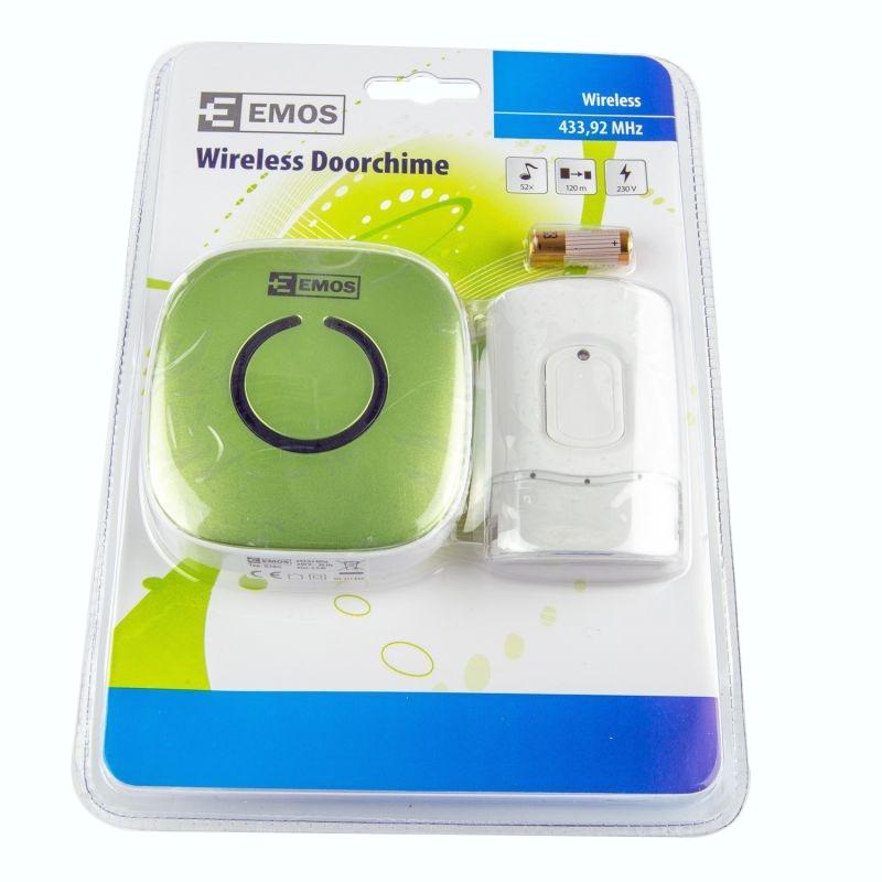 Dzwonki-do-drzwi-bezprzewodowe - dzwonek bezprzewodowy ac 838g zielony emos - 3402018020 firmy EMOS