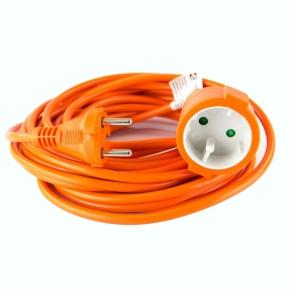 Przedluzacze-elektryczne - przedłużacz ogrodowy dwużyłowy jednogniazdowy pomarańczowy 10m 2x1mm2 10a 2300w p01310 emos